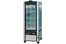 Panoramic refrigerator cabinets, 4-sided